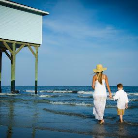 by Sean Smith - People Family ( son, beach, galveston, mom )