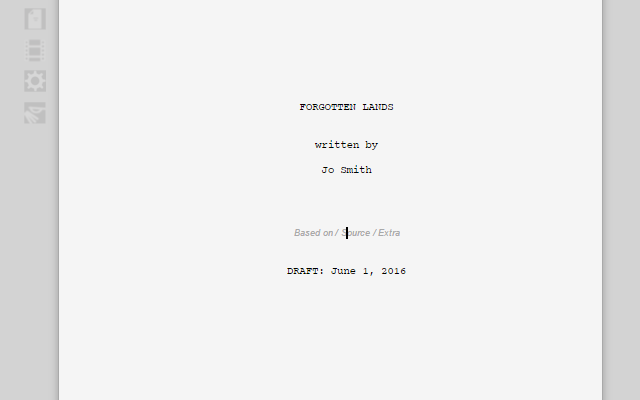 Ad Added Collaborative screenplay, script and screenwriting