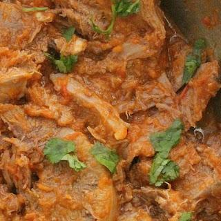 Beef Tongue in Roasted Mexican Salsa (Lengua en Salsa Asada).