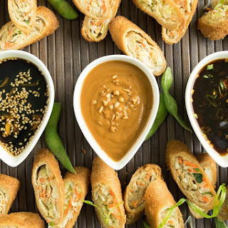 Trio of Asian dipping sauces.