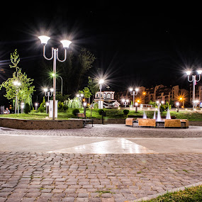 Small city square by Marko Gilevski - City,  Street & Park  City Parks ( urban, new, park, fountain, cityscape, square )