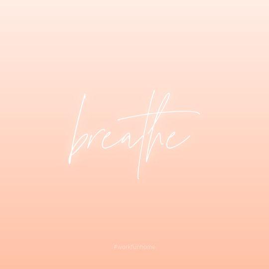Just Breathe - Instagram Post Template