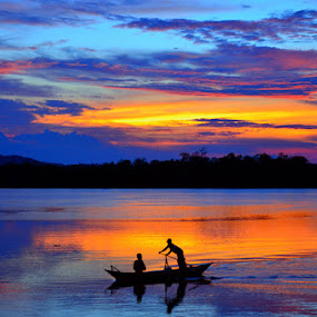Penagi Gold by Pras Manan - Landscapes Sunsets & Sunrises