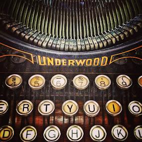 Underwood Typewriter by Geary LeBell - Instagram & Mobile iPhone ( keyboard, keys, typewriter, underwood, antique )