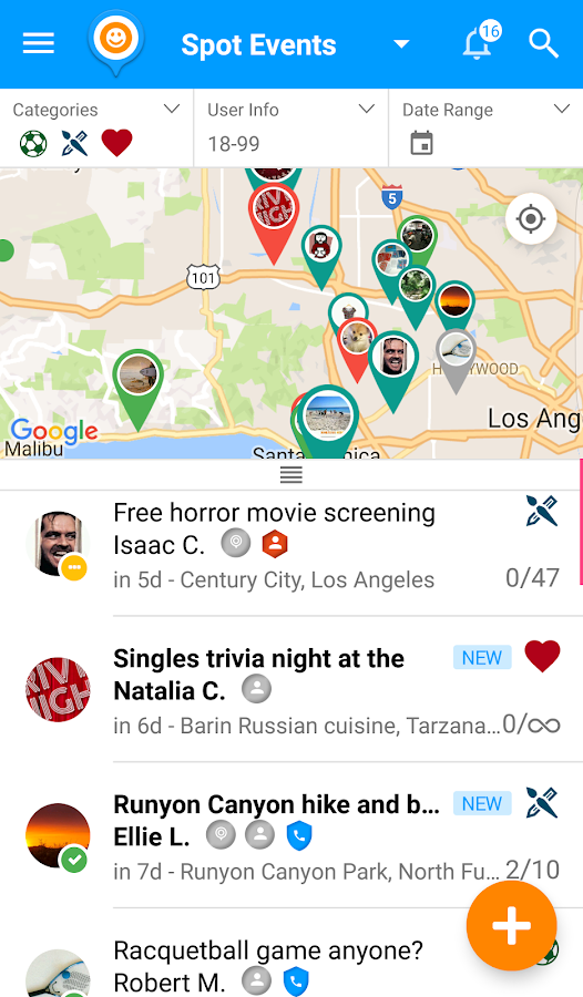 SPOT - Join & Create Events- screenshot