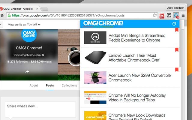 OMG! Chrome! chrome extension