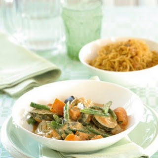 Vegetable Curry with Spiced Noodles Recipe