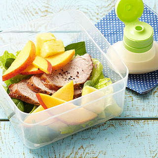 Roast Pork Salad with Ginger-Pineapple Dressing.