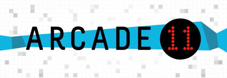 the logo for arcade 11