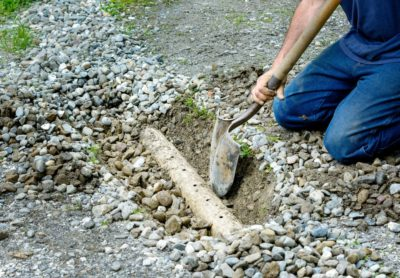 French drain unblocking