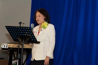 Photo: Lời phát biểu của Giáo Sư Quách Thị Nho – thuộc viện Đại Học Cần Thơ – phụ trách giảng dạy môn Quốc Tế Tư Pháp