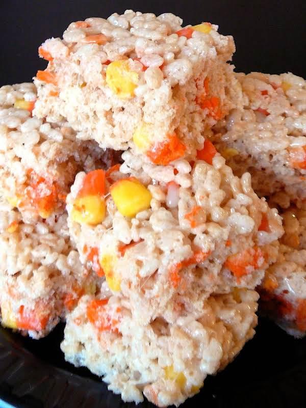 Crispy Rice Candy Corn Treats