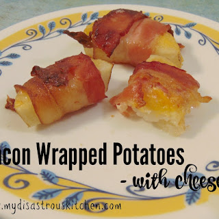 Bacon Wrapped Potatoes with Cheese