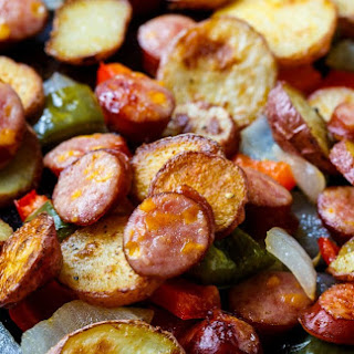 Oven-Roasted Sausage and Potatoes.