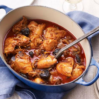 Kozani Chicken With Prunes, Saffron And Paprika.