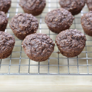 Cocoa Banana Mini Muffins