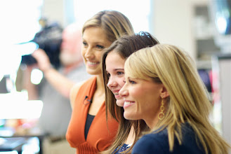 "Photo: Kylee with Christa Delcamp & Kayna Whitworth of 7 News during filming when they awarded Kylee the ""Class Act""at Sky View Middle School on  October 3, 2013."