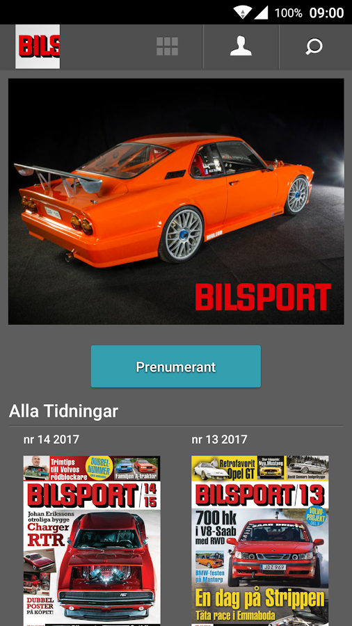 Bilsport- screenshot
