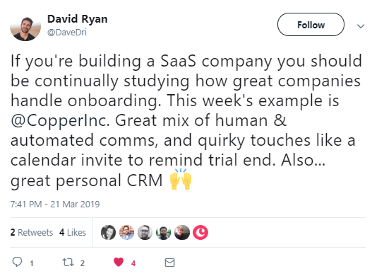 example of social selling on twitter.