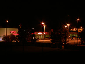 Photo: Even a shopping center can look pretty in the night.