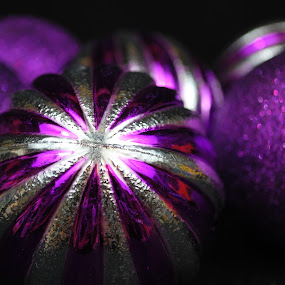 purple by Tim Hauser - Public Holidays Christmas ( christmas decorations, purple decorations, christmas, decorations, christmas balls )