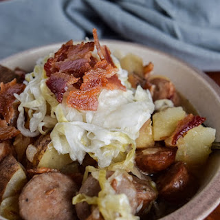 Brat, Potato, and Sauerkraut Stew.