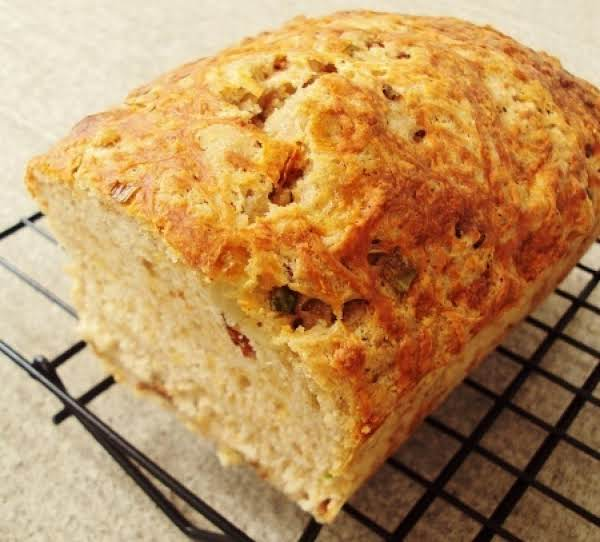 Beer Bread W/ Bacon, Sun-dried Tomatoes & Cheddar