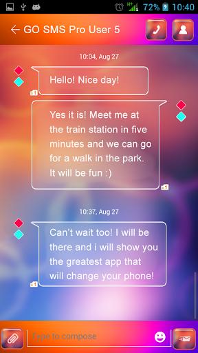 GO SMS Proのマルチカラー
