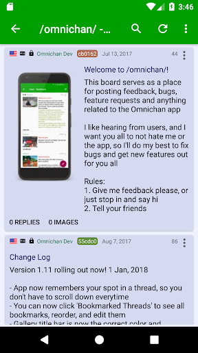 Screenshot for Omnichan Pro: 4chan and 8chan Client in Hong Kong Play Store