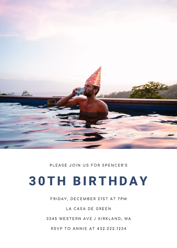Spencer's 30th Birthday - Birthday Card Template