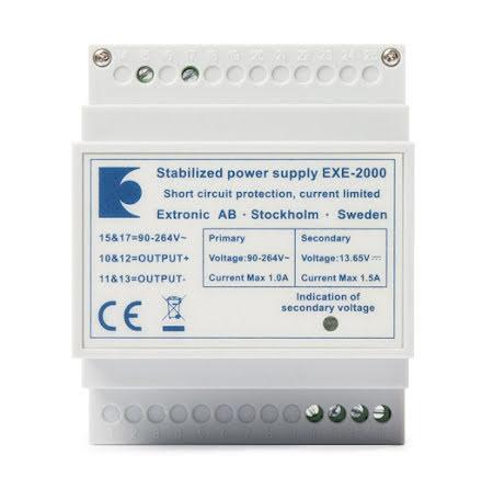 Likriktare EXE-2000 12 VDC 1,5Ah
