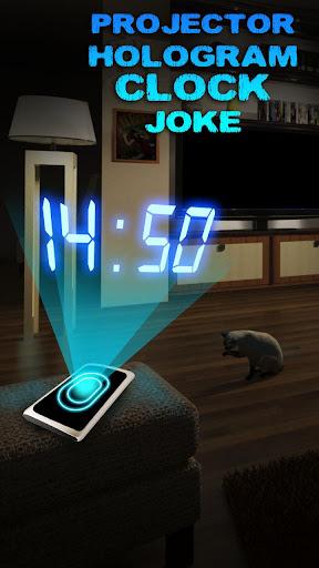 Projector Hologram Clock Joke