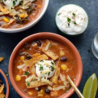 Crock-Pot Creamy Chicken Tortilla Soup with Kale.