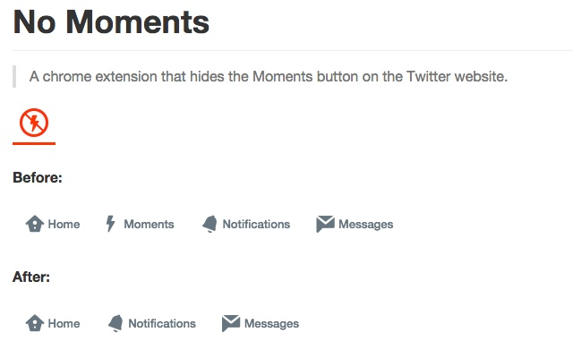 No Moments for Twitter