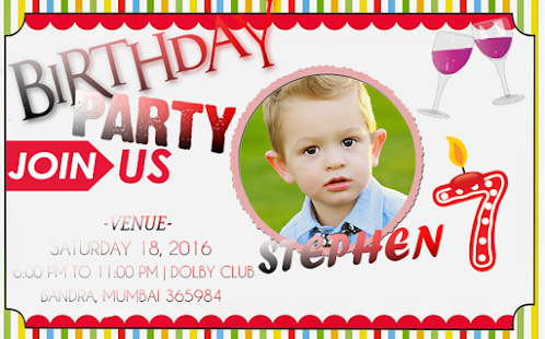 birthday invitation card lands - android apps on google play, Birthday invitations