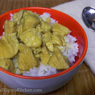 Chicken Breast Curry In Coconut Milk.
