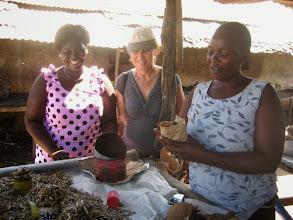 Photo: Nyendo-lernen's Irmgard Wutte visiting Bangladesh, Mombasa.