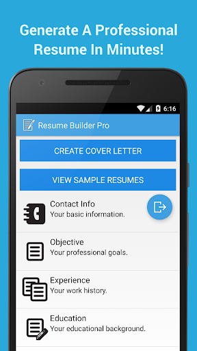 resume builder pro for android