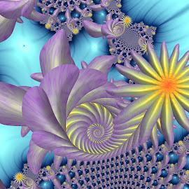 by Cassy 67 - Illustration Abstract & Patterns ( digital, love, harmony, spiral, fractals, digital art, flower, lifestyle, swirl, classic, modern, light, fractal, fashion, energy )
