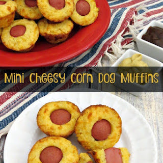 Mini Cheesy Corn Dog Muffins