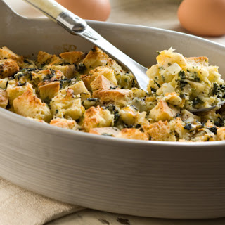 Herbed Spinach and Goat Cheese Strata