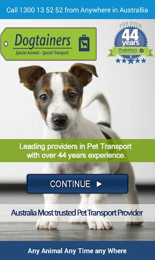 Dogtainers Pet Transport App