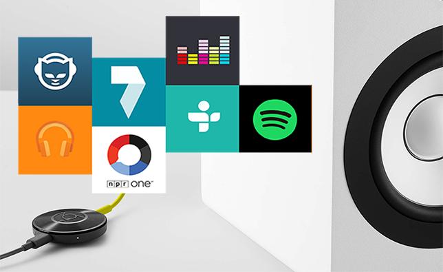 Algunas aplicaciones compatibles con Chromecast Audio