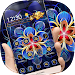 Golden Blue Flower Theme Icon