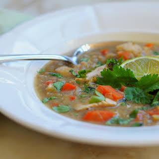 Indian Spiced Red Lentil & Chicken Soup.