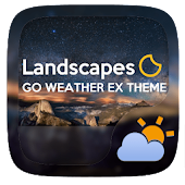 Landscapes GO Weather Widget
