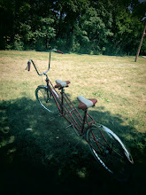 Photo: Toy camera photo of a tandem bike at Eastwood Park in Dayton, Ohio.