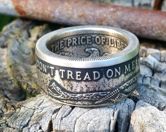 cfaf443b6d3b Molon Labe 999 Fine Silver Coin Ring – Home of the Coin Rings made ...