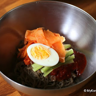 Instant Spicy Korean Cold Noodles (Bibim Naengmyeon) Recipe