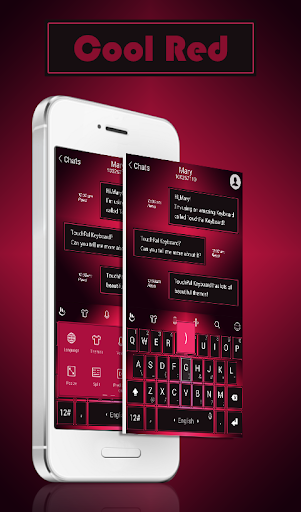 TouchPal Red And Black Theme